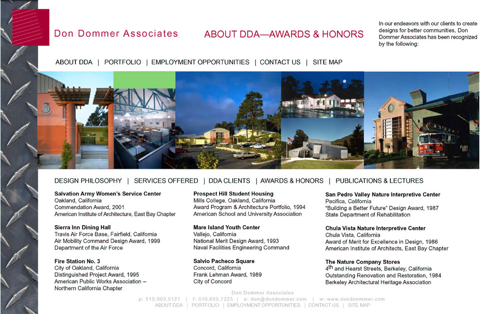 Many DDA projects have received many awards and honors over the years.