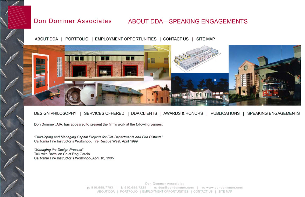 DDA publications and speaking engagements.